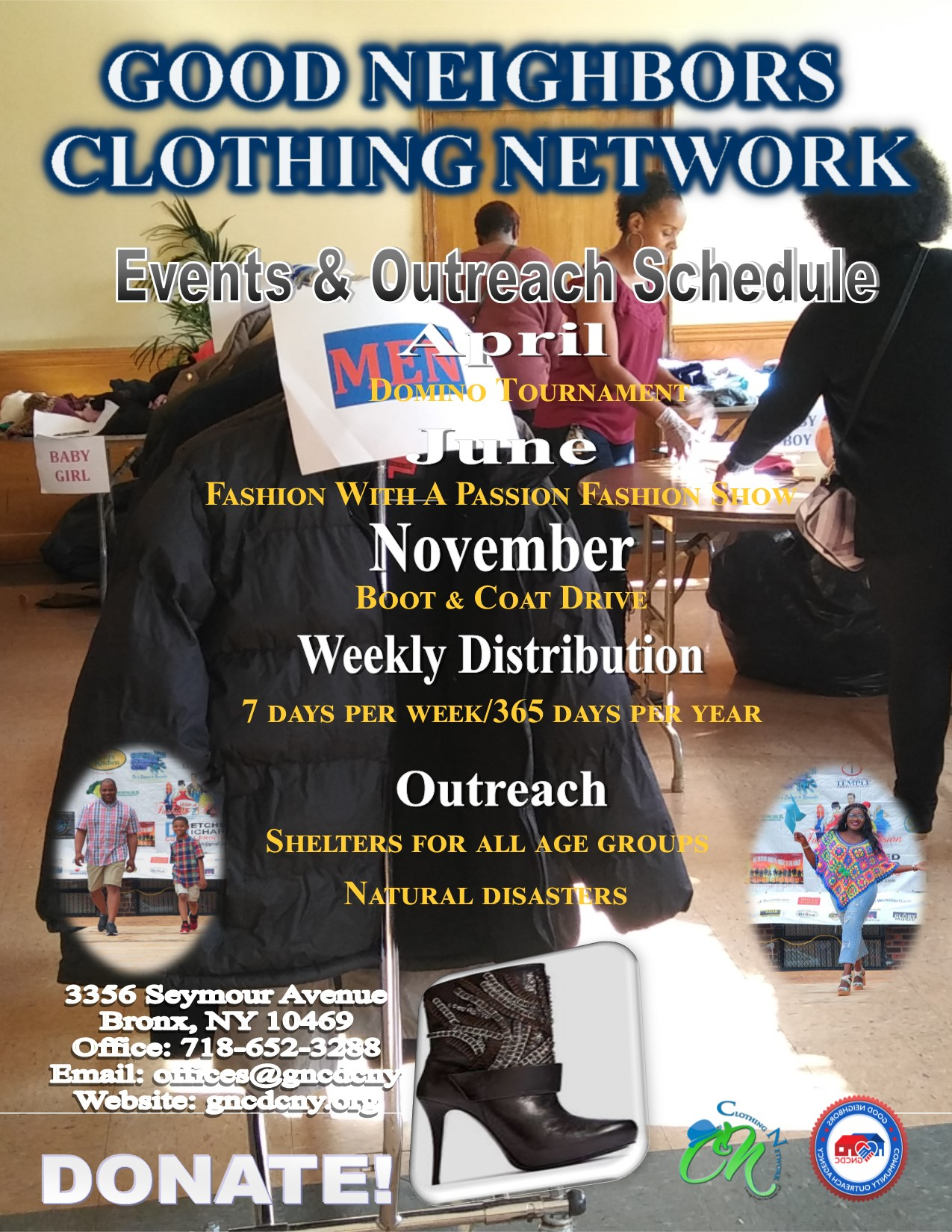 Clothing Network Promotional flyer